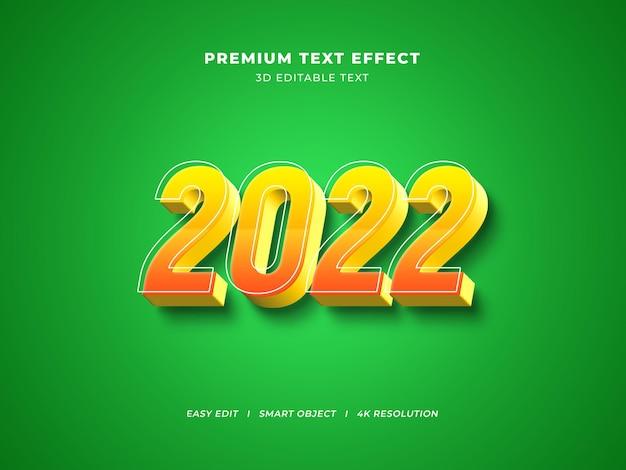 Gestreken nieuwjaar bewerkbaar teksteffect