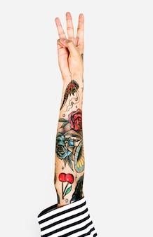 Getatoeëerde arm