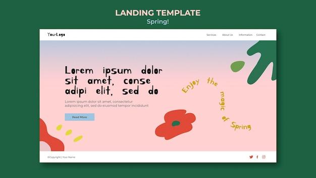 Getekende lente websjabloon