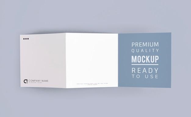Gevouwen brochure mockup gedrukte materialen
