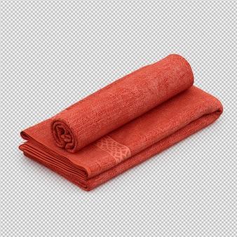 Gevouwen handdoeken 3d geïsoleerd render
