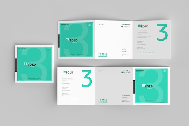 Gevouwen vierkante brochuremodel