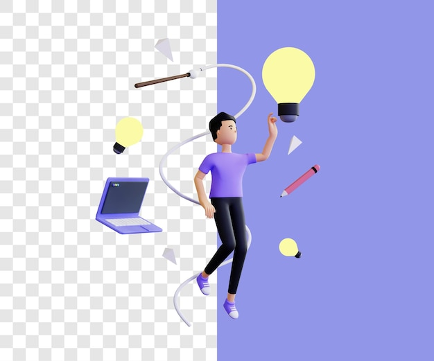 Geweldig idee 3d illustratie concept