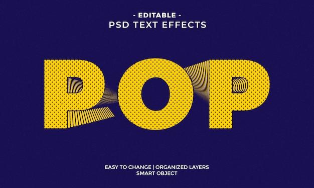 Geweldig kleurrijk pop-teksteffect