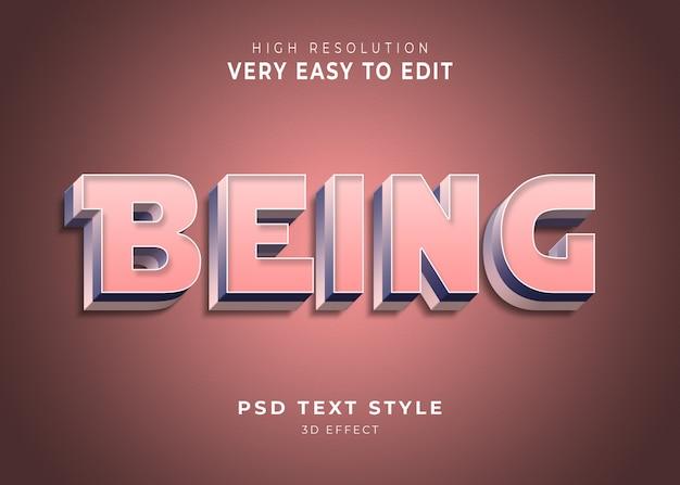 Geweldig om 3d-teksteffect te zijn