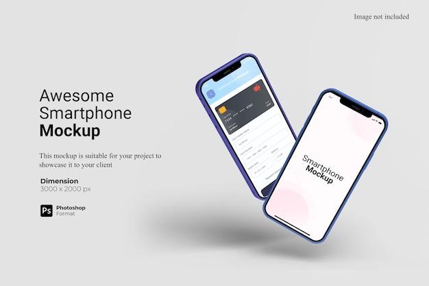 Geweldig smartphone-mockupontwerp