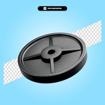 Gewicht plaat 3d render illustratie geïsoleerd