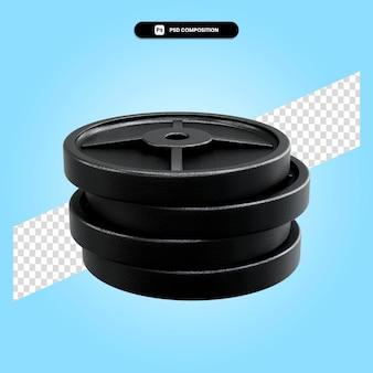 Gewicht platen 3d render illustratie geïsoleerd