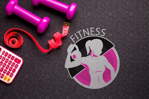 Gewichten en meter fitnessapparatuur