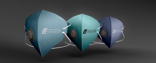 Gezichtsmasker concept mock-up