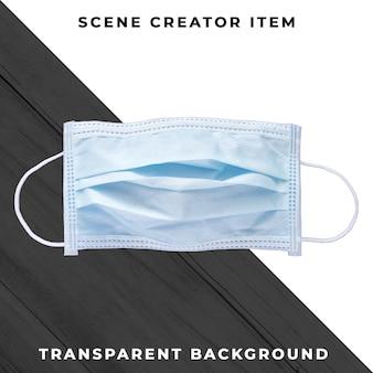 Gezichtsmasker geïsoleerd met uitknippad