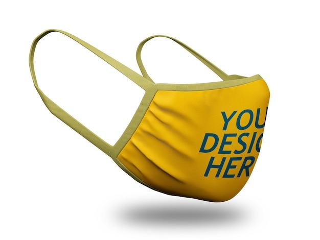 Gezichtsmasker mockup Premium Psd