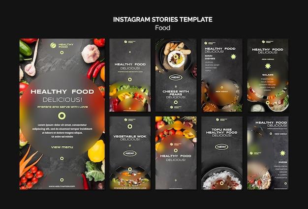 Gezond eten instagram verhalen sjabloon Premium Psd
