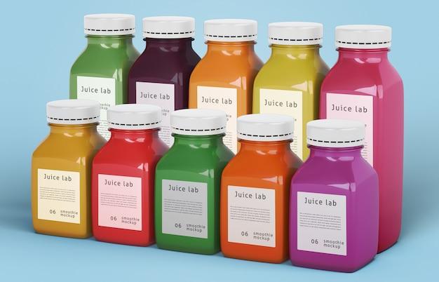 Gezond eten smoothies voor detox concept