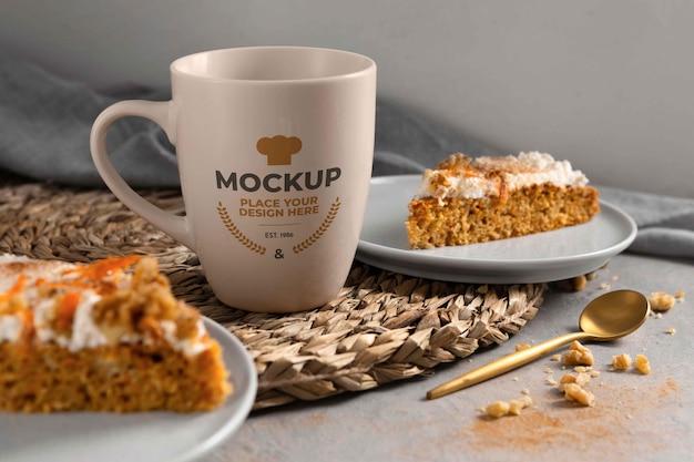 Gezond zoet recept met mock-up mok