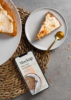 Gezond zoet recept met mock-up smartphone