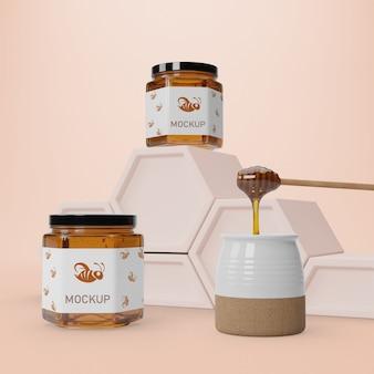 Gezonde honing in potten