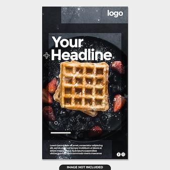 Gezonde voeding menu promotie verhalen berichtensjabloon
