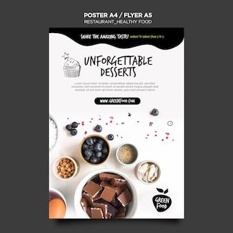 Gezonde voeding poster sjabloon