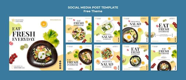 Gezonde voeding social media post