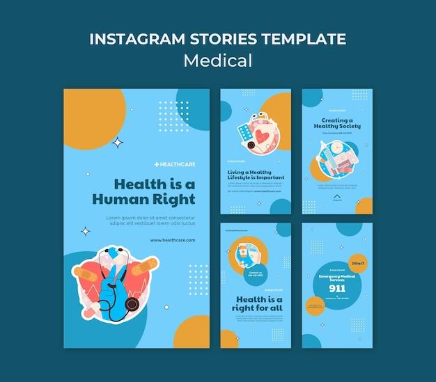 Gezondheid juiste instagram verhalen sjabloon