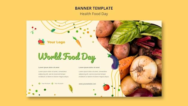 Gezondheid voedsel dag banner thema