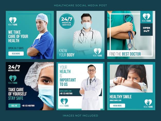 Gezondheidszorg banner set