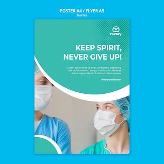 Gezondheidszorg concept poster sjabloon