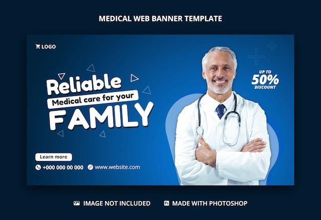 Gezondheidszorg en medische sociale media voor facebook-postsjabloon