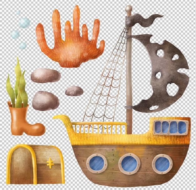 Gezonken schip set