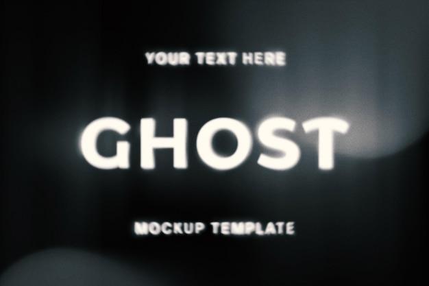 Ghost teksteffect sjabloon