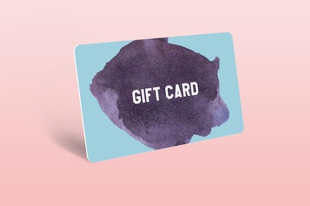 Gift card mockup sjabloonontwerp