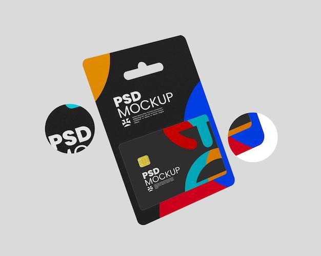 Gift card pack mockup ontwerp geïsoleerd