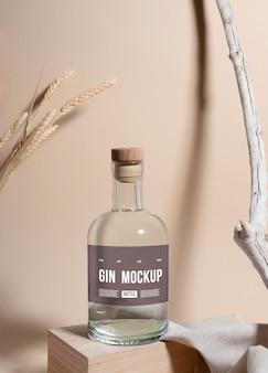 Gin labelontwerp mockup
