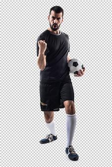 Giocatore di calcio fortunato