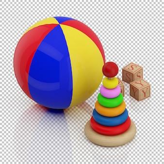 Giocattolo bambino isometrica