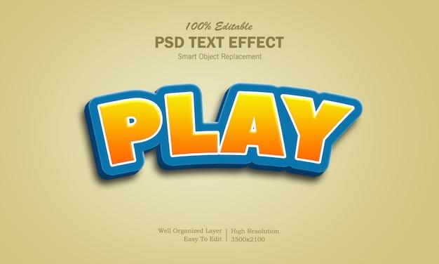 Gioco 3d logo effetto testo