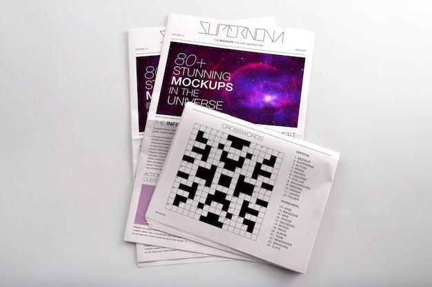Giornali mock up di progettazione