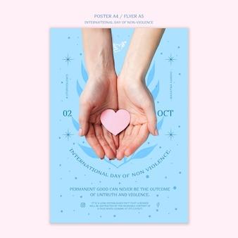 Giornata internazionale della progettazione del poster della non violenza