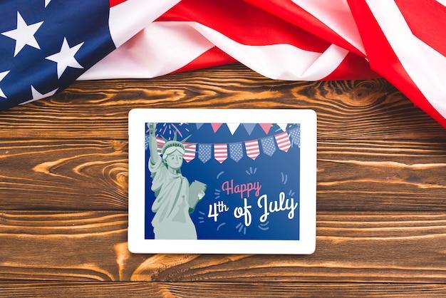 Giorno dell'indipendenza negli stati uniti d'america. 4 luglio