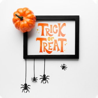 Giorno di halloween mock-up con cornice