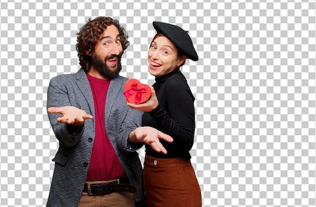 Giovane coppia festeggia il giorno di san valentino