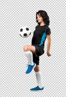 Giovane donna del giocatore di football americano