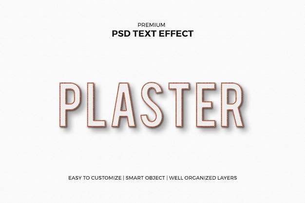 Gips psd-teksteffect