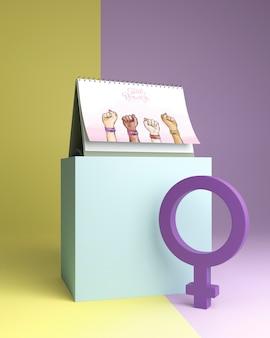 Girl power concept mock-up