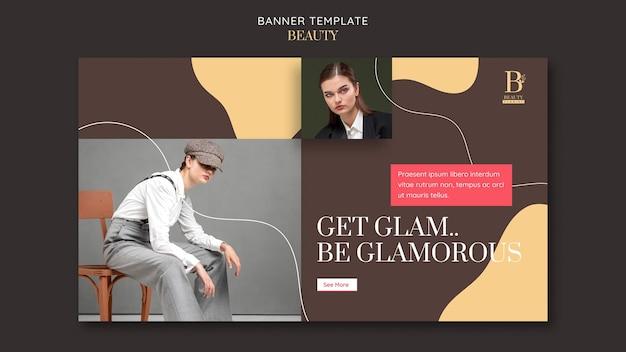 Glamoureuze bannersjabloon