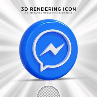 Glanzend messenger-logo en pictogrammen voor sociale media