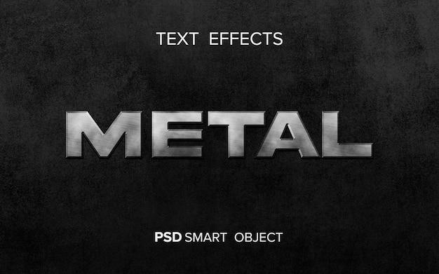 Glanzend metalen teksteffect