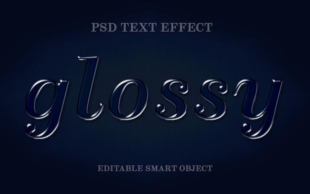 Glanzend teksteffect
