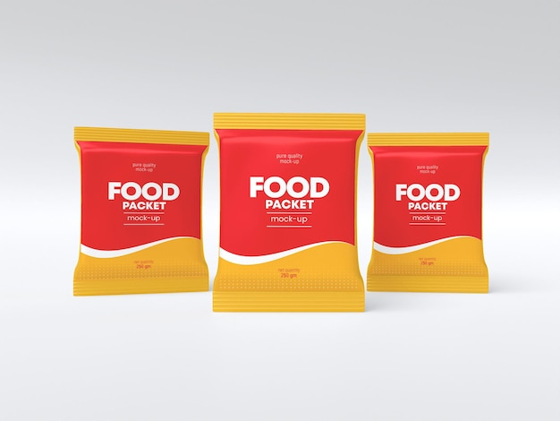 Glanzend voedselpakketmodel